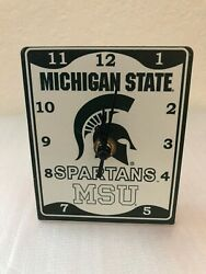 Michigan State Desk Clock  ncaa official product.