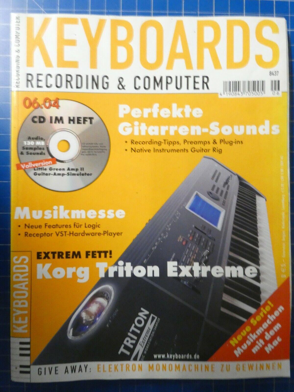 KEYBOARDS Recording & Computer Juni 2004 Korg Triton Extreme To832
