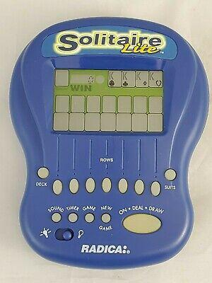 Radica Solitaire Lite Handheld Game Klondike / Vegas Working Back Light clean Klondike Solitaire Games