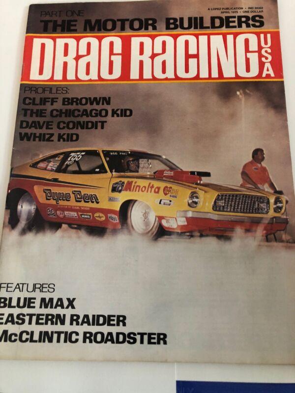 April 1975 Drag Racing Magazine