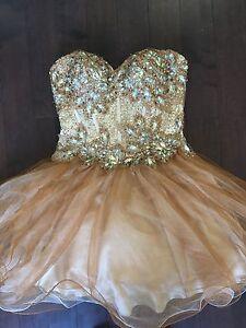 Beautiful short GOLD prom/graduation dress