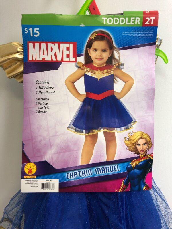 Halloween Dress Up Marvel Captain Marvel Costume Toddler (2T) GE
