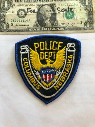 Columbus Nebraska Police Patch Un-sewn in great shape