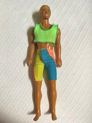 VTG Barbie KEN DOLL Mattel 1968 Malaysia Malibu Wet & Wild Beach Tanned Body