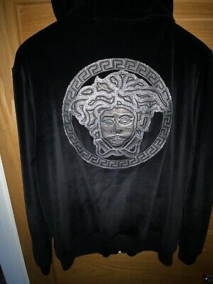 Versace Velour hoodie Men's Medium