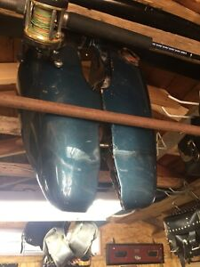 Harley Davidson 3 1/2 gas tank, 3 sets of saddle bags