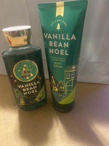 Bath and Body Works Vanilla Bean Noel Shower Gel and Body Cream