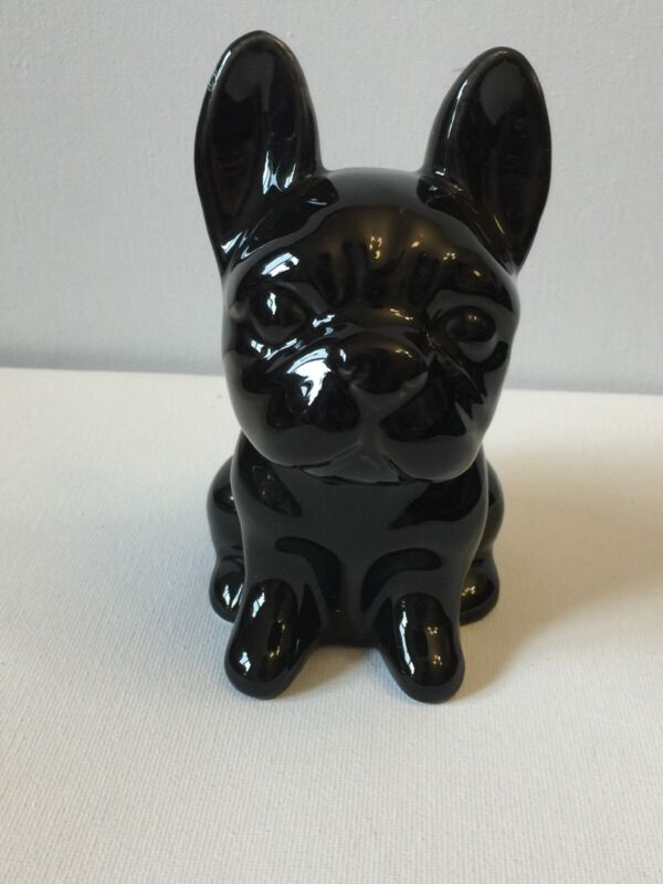 French Bulldog Figure Shiny Black Adorable