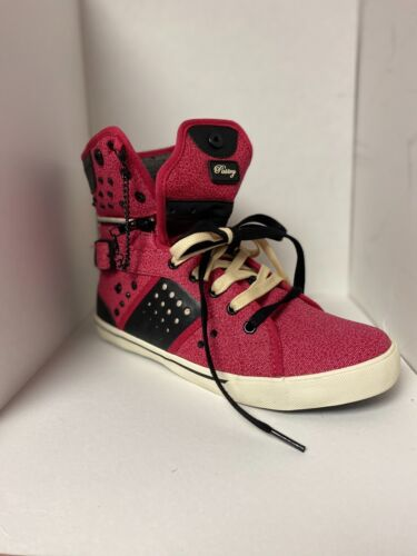 Pastry Red Studded High Top Sneaker