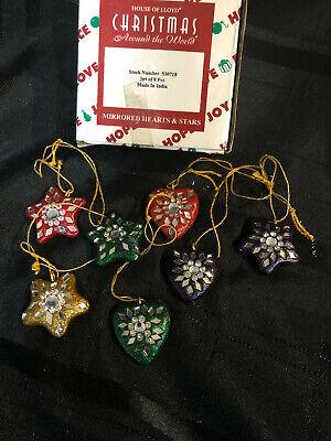 HOUSE OF LLOYD CHRISTMAS AROUND THE WORLD MIRRORED HEARTS & STARS