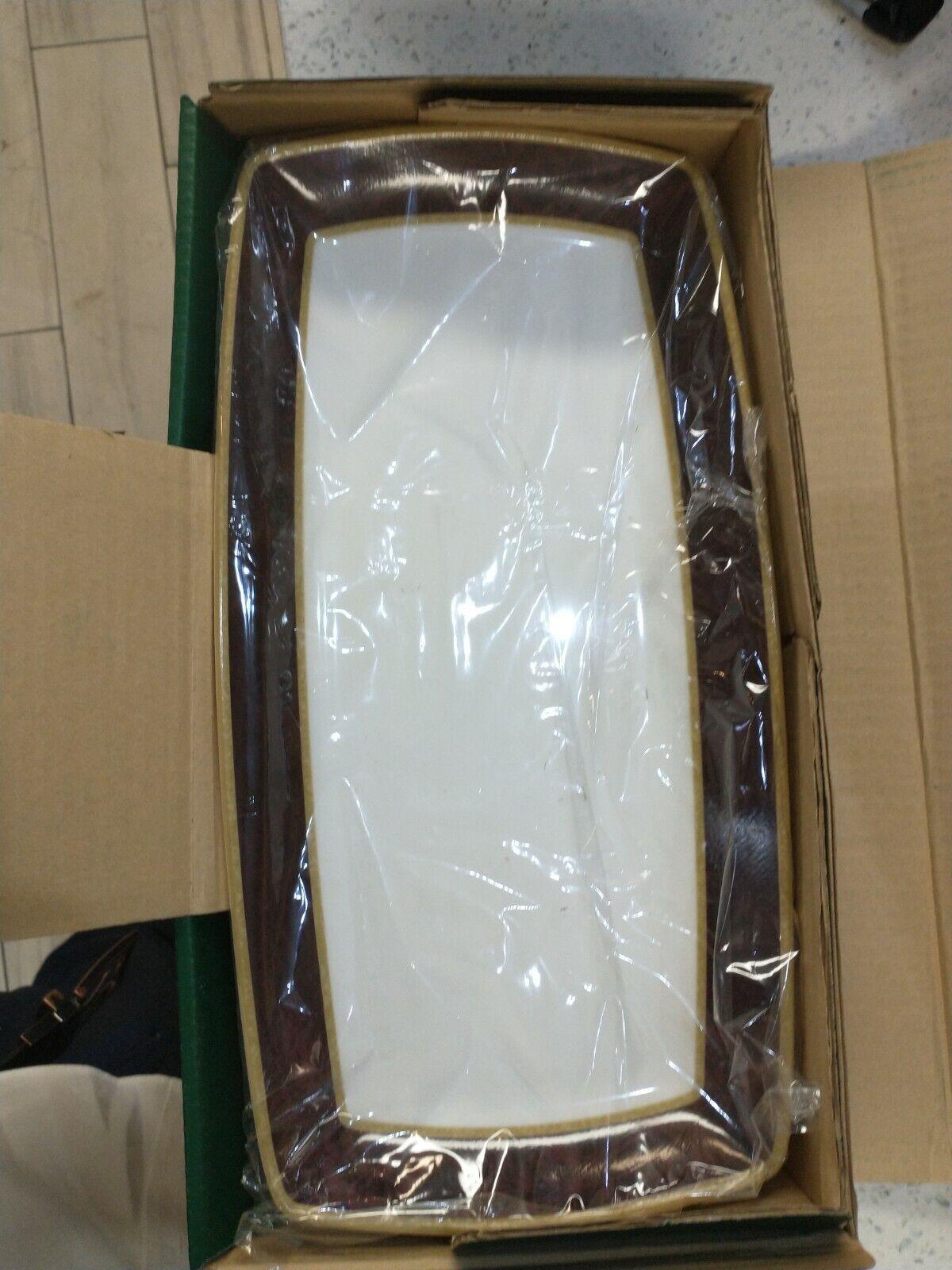 Noritake Mahogany Rose Rectangular Platter 14.25 NEW WITH TAGS Bone China - $34.99