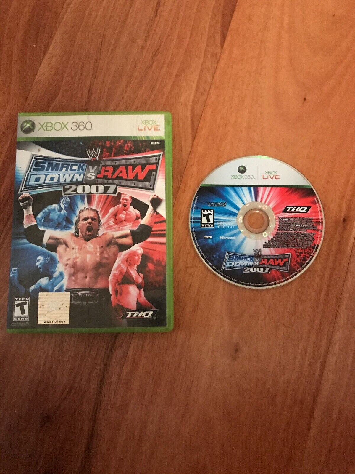 WWE SmackDown Vs. Raw 2007 Microsoft Xbox 360, 2006 No Manual Tested Wrestling - $22.79