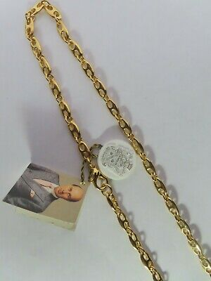 Vintage Paolo Gucci Gold Tone Navy Link Chain 49""