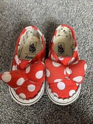Minnie Mouse Vans Infant Size 5