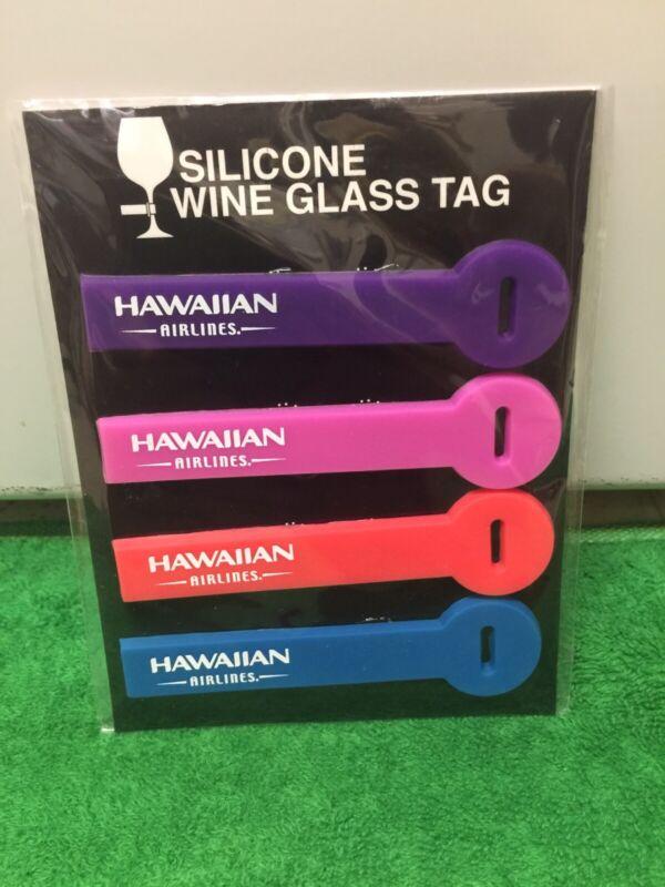 Hawaiian Airlines Wine Glass Tag