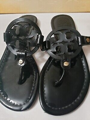 M-962-Tory Burch 'Miller' Flip Flop Patent Leather (Women) Sz 7 M