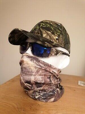 Polarised Sunglasses Hat Snood Combo Cap Face Covering Camo Realtree blue carp