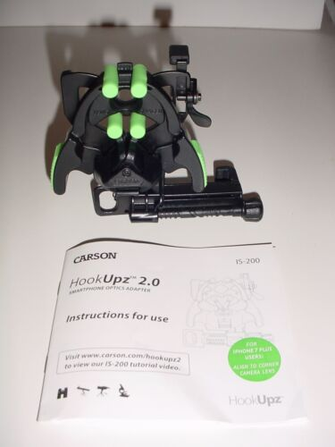 Carson HookUpz 2.0 Smartphone Optics Adapter IS-200 With Instructions