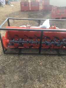 Three point hitch rototiller 72""