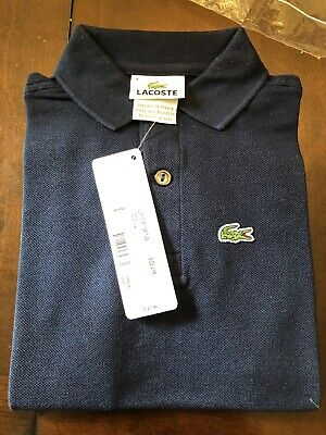 Lacoste Kids Boy's MARINE Classic Croc Logo Short Sleeve Polo Shirt Size 4 New