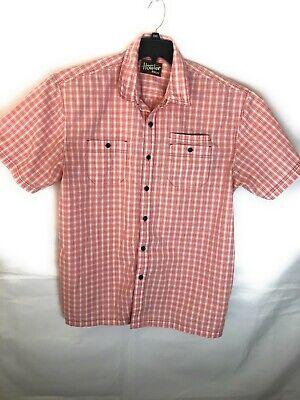 Howler Bros Short Sleeve  Plaid Button Front Shirt Men's Size XL A16