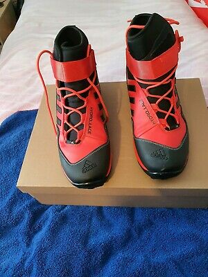 Adidas Mens Terrex Hydro Lace Boot Black Red Sports Hiking. UK 9.5 EU44 Mint !!