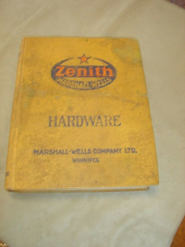 Marshall Wells 1923 Hardware Catalog, Hard Bound, 1098 Pages. Soiled Covers