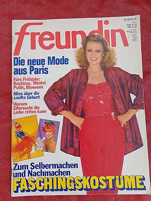 FREUNDIN Frauenzeitschrift Ausgabe  2 Januar 1979 Fasching Sonderteil Nostalgie