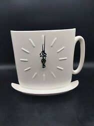 Large Ceramic Coffee Cup deck Clock new in box