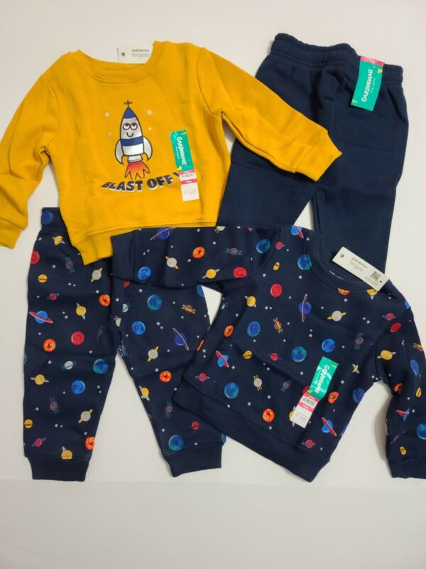 Boys Lot Of Garanimals Fleece Sweatshirts And Sweatpants Size 18M NWT