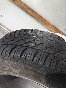 Winter tires 235/60R18 with rims