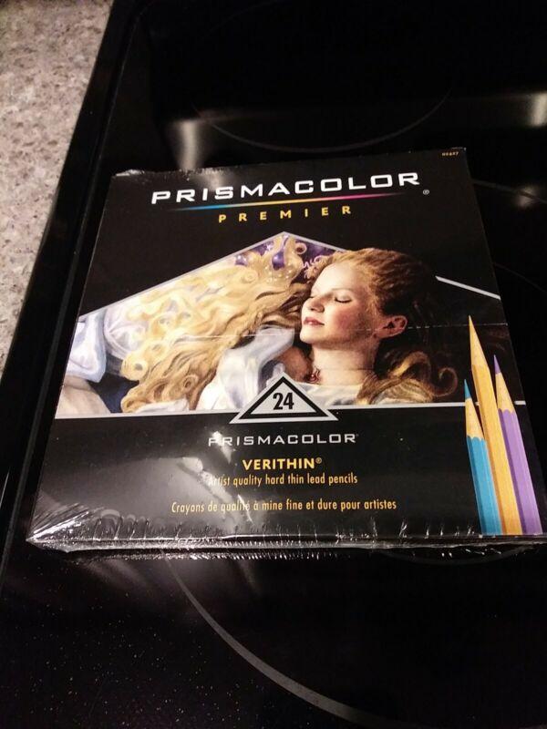 NEW Prismacolor Premier Verithin Hard Thin Color Pencils 24 Pack