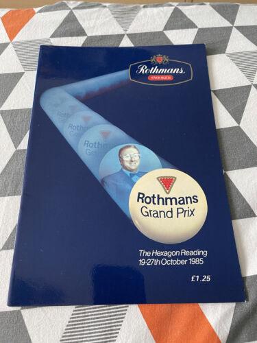 Rothmans Snooker Grand Prix 1985 - Snooker Programme