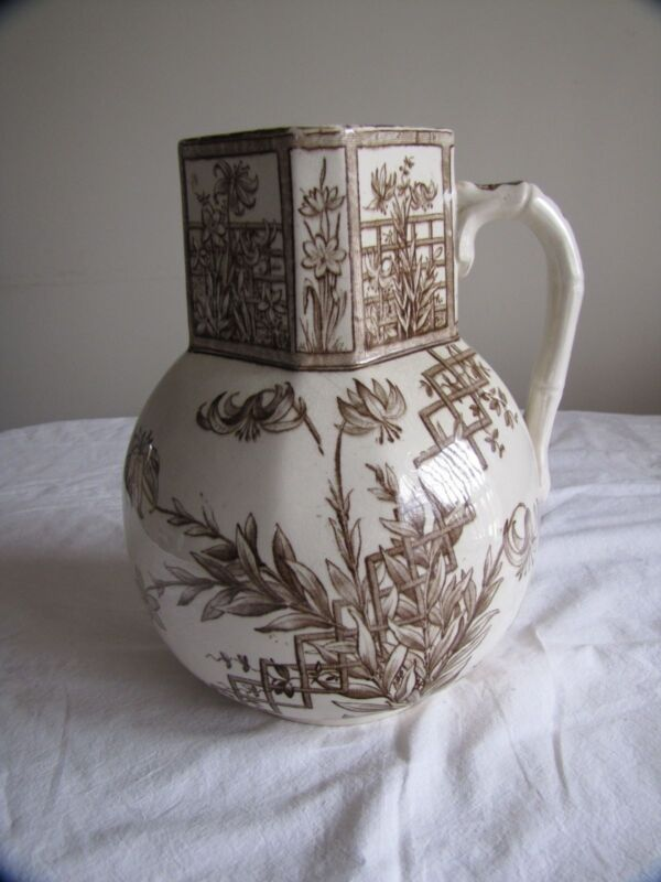 "Turner & Sons, Beatrice, Tunstall 11"" tall Pitcher"
