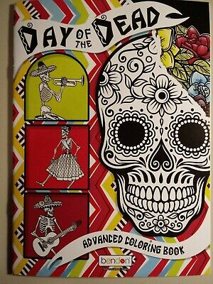 Colors Of Day Of The Dead (Day of the Dead: Bendon Adult Coloring Book; FREE Shipping)