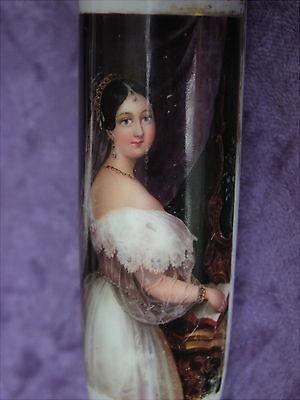 Antike Porzellanpfeife um 1830 feinste Lupenmalerei Pipa