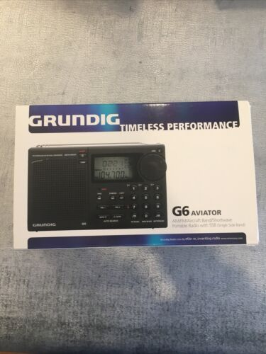 GRUNDIG G6 Aviator AM/FM Shortwave Portable Radio BOX AND AC
