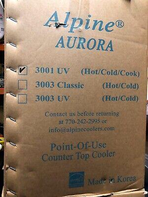 Alpine Coolers 3001 Uv Aurora Table Tri-temp Touch Tone Water Dispenser