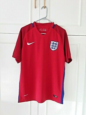 ENGLAND 2016-17 Red Away Shirt.. Nike. SIze Large.