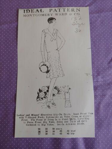 Vintage ladies Dress Pattern *1920