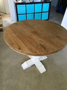 Brand New - Dining Table Round - Natural Solid Wood