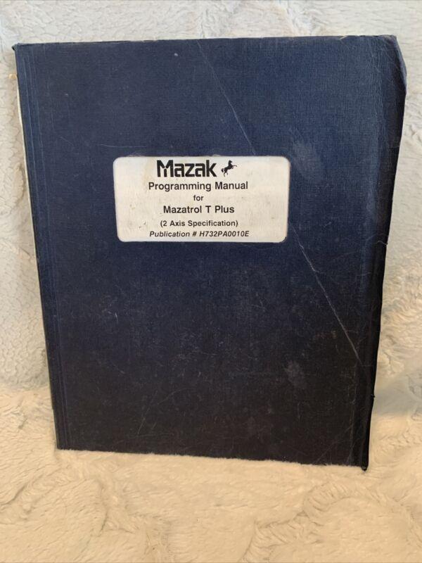 Mazak Programming Manual For Mazatrol T Plus (2 Axis Spec) H732PA0010E