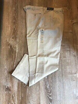 Polo Ralph Lauren 44 X 32 Classic Pleated Fit Pants, Khaki 100% Cotton