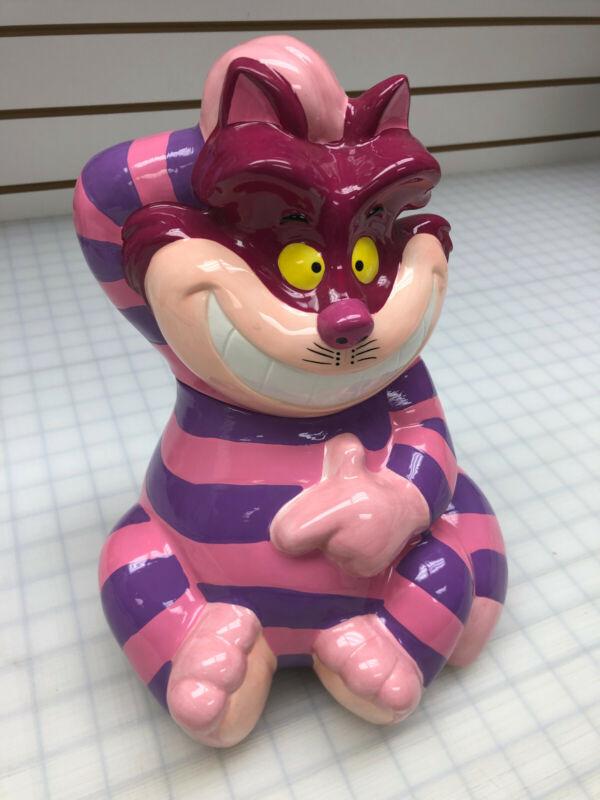 Disney Alice in Wonderland Cheshire Cat Cookie Jar NIB