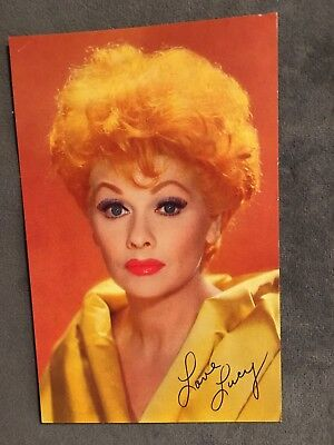 """LUCY - LUCILLE BALL photo signed """"Love Lucy"""" - colorful! 3 1/2"""" x 5 1/2"""""""