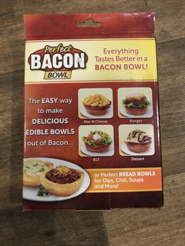 Perfect Bacon Bowl 2 Pack ASOTV As Seen On TV NEW Microwaveable Dishwasher Safe  - $9.99