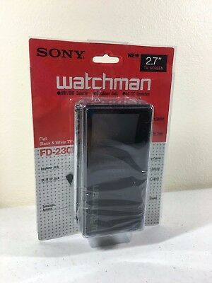 "Sony Watchman FD-230 Portable 2.7"" Black & White TV New Old Stock"