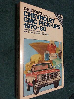 1970-1980 CHEVROLET & GMC TRUCK SHOP MANUAL PICKUP CHILTONS BOOK 79 78 77 71 72+