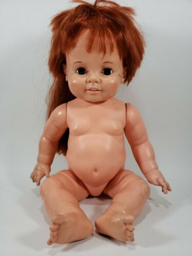 """IDEAL 1972 Baby Crissy Doll Large 24"""" Red Growing Hair"""