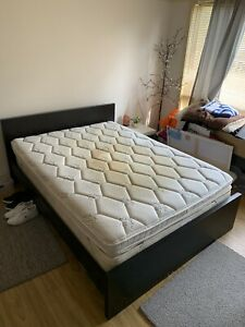 NEED GONE THIS WEEKEND Double bed frame, mattress and pillow top